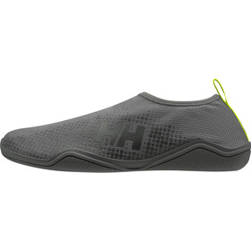 Helly Hansen Crest Watermoc Slip-On Shoes Men, charcoal/ebony/azid lime